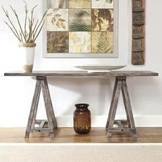 Vennilux Console Table in Light Brown