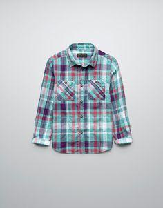 CHECKED SHIRT - Shirts - Boy (2-14 years) - Kids - ZARA United States