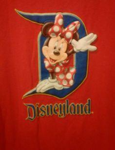 Red Minnie Mouse Shirt Disneyland Resort Plus Size XXL Disney  #Disney