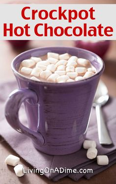 Homemade Crockpot Hot Chocolate Recipe - Just 4 Ingredients!