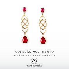 Estilo exalando nesses brincos! #MairaBumachar #Sucesso  www.mairabumachar.com.br/brinco-infinito-rubelita ou #whatsapp (11)99744-0079  #ColecaoMovimento #MovimentoMB #MB #Vix #SP #VilaVelha #VilaMadalena #ZonaOeste #VilaMada #Brincos #Love #Showroom #Moda #Fashion