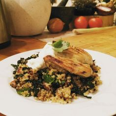 """Awww, yeah! Yogurt chicken with ginger, kale and almond quinoa - I love you! #IQS8WP #JERF #iqsforlife"" Photo taken by @me_living_sugar_free on Instagram, pinned via the InstaPin iOS App! http://www.instapinapp.com (06/18/2015)"