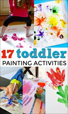 These Painting Activities for Toddlers are designed to be simple enough to engage little hands (and sometimes feet!) while allowing kids to explore their creative side. Creative Activities For Toddlers, Toddler Painting Activities, Toddler Learning Activities, Rainy Day Activities, Infant Activities, Toddler Painting Ideas, Babysitting Activities, Toddler Play, Toddler Snacks
