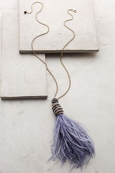 Fluttered Feather Pendant Necklace #anthropologie