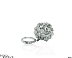 "Paolo Costagli Moonstone and Diamond ""Pom-Pom"" Ring"