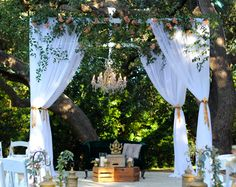 Ceremony site inspiration....STEMS | Mercury Hall Wedding | Mandap | www.stemfloral.com