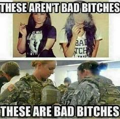 I hate the terminology but nuffin said. God bless the women in uniform!