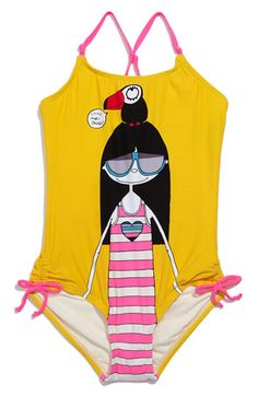 little marc jacobs swimsuit.  how cute is this?!  but too pricey for a kids swimsuit.
