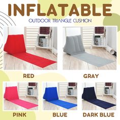 Inflatable Outdoor Triangle Cushion hot deal