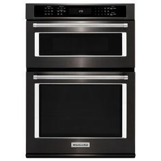 Buy the KitchenAid Black Stainless Direct. Shop for the KitchenAid Black Stainless 27 Inch Wide Cu. Combination Wall Oven with Cu. Microwave Oven with Even-Heat True Convection and save. Wall Oven Microwave Combo, Built In Microwave, Combination Microwave, Kitchenaid, App Pin, Convection Cooking, Microwave Convection, Electric Wall Oven, Modern Kitchens