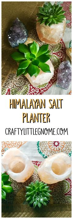 Himalayan Salt Planter Himalayan Salt has been a trendy ingredient in the culinary world for a while now. The trend has crossed over into home decor with Himalayan salt lamps being sold all over the place. I bought a salt lamp a couple of years ago and I love it. I have been keeping it …