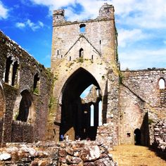Dunbrody Abbey, County Wexford, Ireland. Wexford Ireland, Open Your Eyes, Tower Bridge, Barcelona Cathedral, Places To Visit, Building, Pictures, Travel, Beautiful