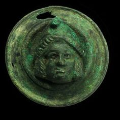 Roman bronze applique - man with Phrygian cap - 4,8 cm