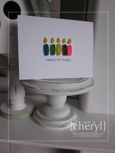 Quilled Candles Card  Happy Birthday by APaperLifeOriginals, $6.00