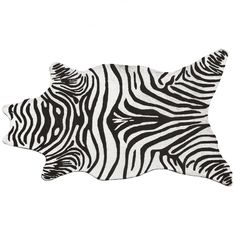 The Rug Market Resort Zebra Black Shaped Outdoor Rug - 25257