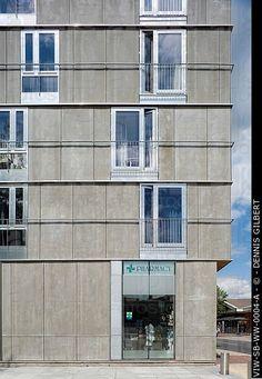 Wandsworth Town CENTRO HOUSING, GARRATT Lane, Londra, SW18 Wandsworth, Regno Unito, Sergison BATES, ESTERNI, APPARTAMENTI SUD ELEVAZIONE