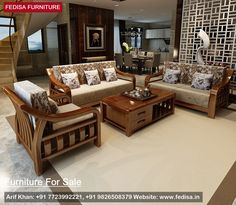 Wooden sofa sets for sale inspiration and pictures Wooden Pallet Furniture, Wood Sofa, Sofa Furniture, Furniture Makeover, Furniture Design, Woodworking Furniture, Furniture Stores, Wooden Sofa Set Designs, Wooden Main Door Design