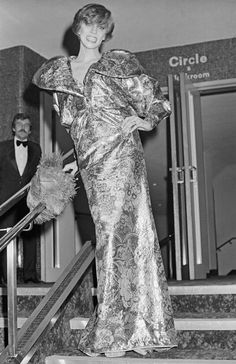 American model Angela Bowie attends the premiere of the film 'The Man Who Fell to Earth', starring her husband David Bowie, at the Leicester Square Theatre in London, March (Photo by Central Press/Hulton Archive/Getty Images) Angela Bowie, David Bowie Ex Wife, London Theatre, Soundtrack To My Life, Miles Davis, Ex Wives, Guy Pictures, Models, Glam Rock