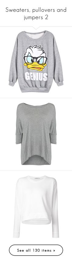 """Sweaters, pullovers and jumpers 2"" by musicmelody1 on Polyvore featuring tops, hoodies, sweatshirts, shirts, sweaters, gray sweatshirt, gray top, grey top, pattern shirts and grey sweatshirt"
