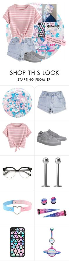"""""""Pastel #1"""" by rebelscar000 ❤ liked on Polyvore featuring Nails Inc., Vans, ASAP, Hot Topic, Casetify and Revo"""