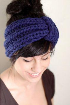 241 deep blue vintage inspired headband by ArrowsDesign on Etsy $23.00