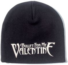 9d3e4e1f078 Official Bullet For My Valentine black Beanie Hat featuring the classic  BFMV logo printed on the front 100 Cotton One Size Fits All Officially