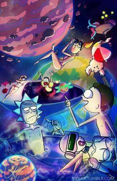 Rick and Morty Trippy Wallpaper, Galaxy Wallpaper, Cartoon Wallpaper, Wallpaper Backgrounds, Iphone Wallpaper, Graffiti Wallpaper Iphone, Rick And Morty Time, Rick Und Morty, Rick And Morty Poster
