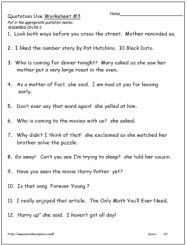 Adding Quotation Marks to Dialogue Worksheet | Englishlinx.com Board ...