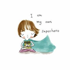 Be your own superhero💙 . 🧚‍♂️ Be your own superhero💙 . Yoga Cartoon, Yoga Drawing, Buddha Doodle, Yoga Art, Yoga Quotes, Children's Book Illustration, Yoga Inspiration, Cute Drawings, Cute Art