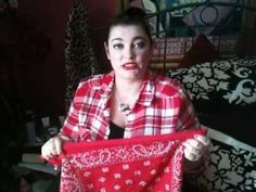 How To Tie A Rockabilly/Rosie The Riveter Style Bandana