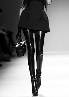There's no better way to snazzy up and outfit than with full latex legs...