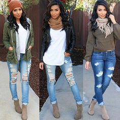 3 looks, 1 pair of versatile booties! ✨ @itsmsmonica styling our best-selling Roberta Booties - taupe!  #ShopPriceless #SellingFast ✨www.ShopPriceless.com✨