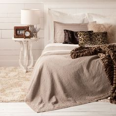 Love the color and texture! Leopard Bedspread - Bedspreads - Bedroom - United States of America