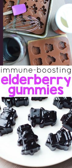 I have heard that elderberries are a great natural remedy and preventative for common sicknesses.  My kids would love help making them!  Immune-Boosting Elderberry Gummies!