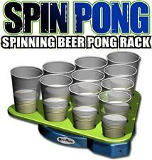 NEW Fun Spin / Spinning Pong Rotating Beer Pong Rack - Challenging New Rules