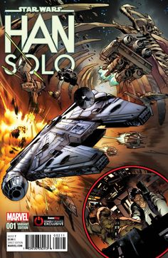 Star Wars: Han Solo #1 variant cover by Pepe Larraz *