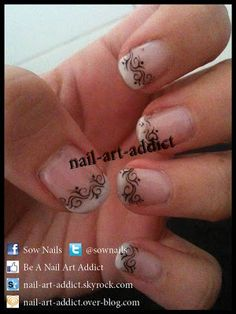Nail Art : French Manucure http://www.nail-art-addict.blogspot.fr/2012/01/french-manucure.html