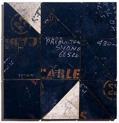 Rosalie Gascoigne Magpie, 1998 sawn wood on wood 55 × 54cm