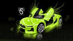 Citroen-Lime-Photoshop-Green-Neon-Car-CAR ART