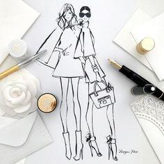 Megan Hess Illustration, Kerrie Hess, Fashion Design Sketches, Fashion Drawings, Fashion Designers, Drawing Projects, Drawing Ideas, Stylish Girl, Fashion Art