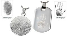 Cremation Jewelry   Biodegradable Urns   Funeral Urns   Memorial Gallery - Fingerprint and Thumbprint Jewelry Non-Ash Holding