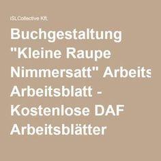 12 KOSTENLOSE DAF Raupe Nimmersatt Arbeitsblätter | Raupe nimmersatt ...