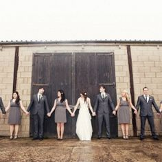 They wanted their day to be crafty and budget friendly with a yellow and dark grey theme.