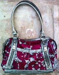 6f430ea6b203 Genna de Rossi Fuchsia and Silver Handbag FREE SHIPPING