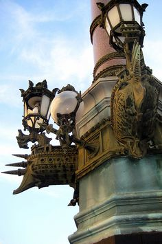 Paris - Opéra Quarter: Place Charles Garnier - lamp post by wallyg, via Flickr