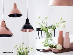 Nicest Things – Food, Interior, DIY: DIY: Paint lamps with spray paint in copper Source by kyotolife Painting Lamps, Diy Painting, Rose Gold Rooms, Copper Lamps, Diy Inspiration, Ikea Hack, Scandinavian Style, Sweet Home, New Homes