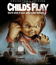 Scream Factory is releasing Tom Holland's Child's Play in a new Collector's Edition Blu-ray. This Blu-ray is set to release this Octobe. Horror Icons, Horror Movie Posters, Horror Films, Horror Art, Child's Play Movie, Movie Tv, Movie Titles, Movie Characters, Saga