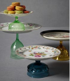 Cute idea for serving dishes.....