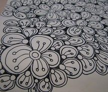 Love this zentangle idea for a garden stepping stone. Tangle Doodle, Doodles Zentangles, Zen Doodle, Doodle Art, Doodle Patterns, Zentangle Patterns, Doodle Sketch, Doodle Drawings, Doodle Inspiration