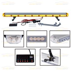 Amber High Intensity Beacon Warning Strobe Emergency Light Bar Control Flashing with Digital Screen and switch Tow Truck Plow Construction vehicle Strobe Light, Snow Plow, Emergency Lighting, Tow Truck, Strobing, Bar Lighting, Flashlight, Offroad, Transportation